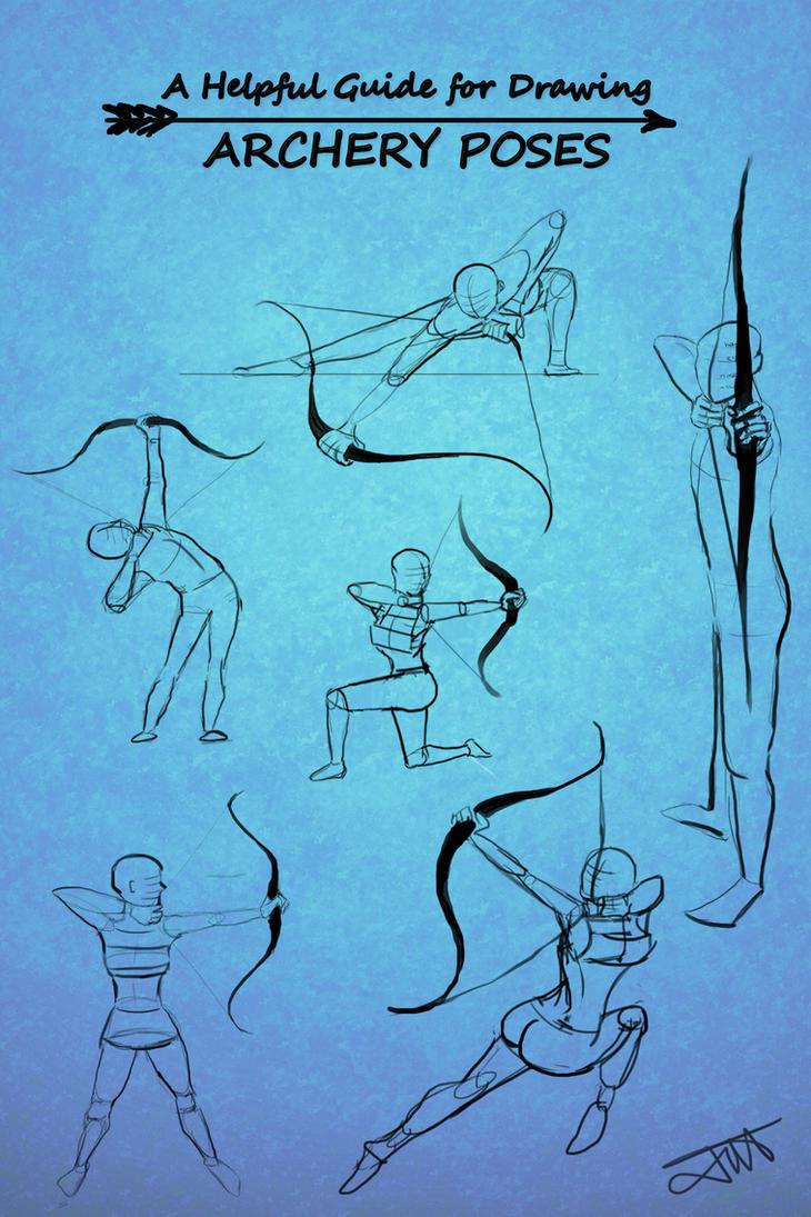 Archery Poses by JessKristen