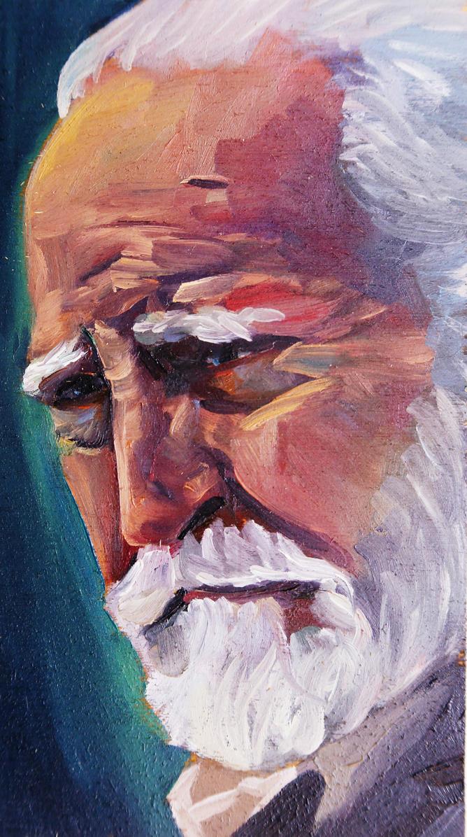 Portrait of Scott Wilson as Hershel by JessKristen