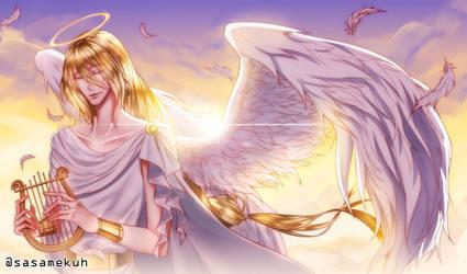 [oc] my guardian angel_1 by sasamekuh