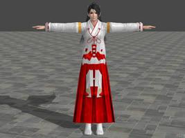 NG3 Momiji Shrine maiden costume by zareef
