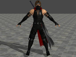 DOA5 LR Hayate Black Ninja by zareef