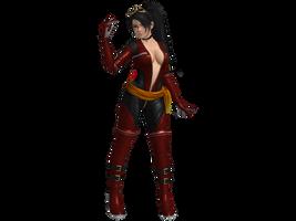 DOA5 LR Momiji Fighting force costume by zareef