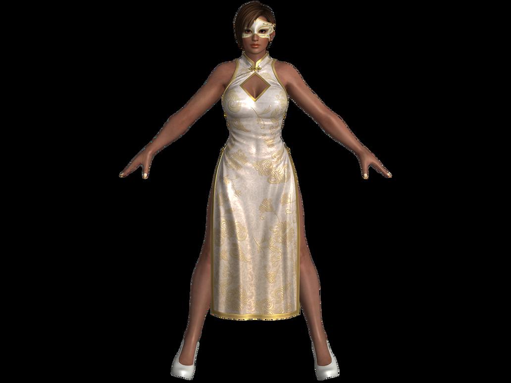 DOA5 LR Lisa Alluring Mandarin dress by zareef