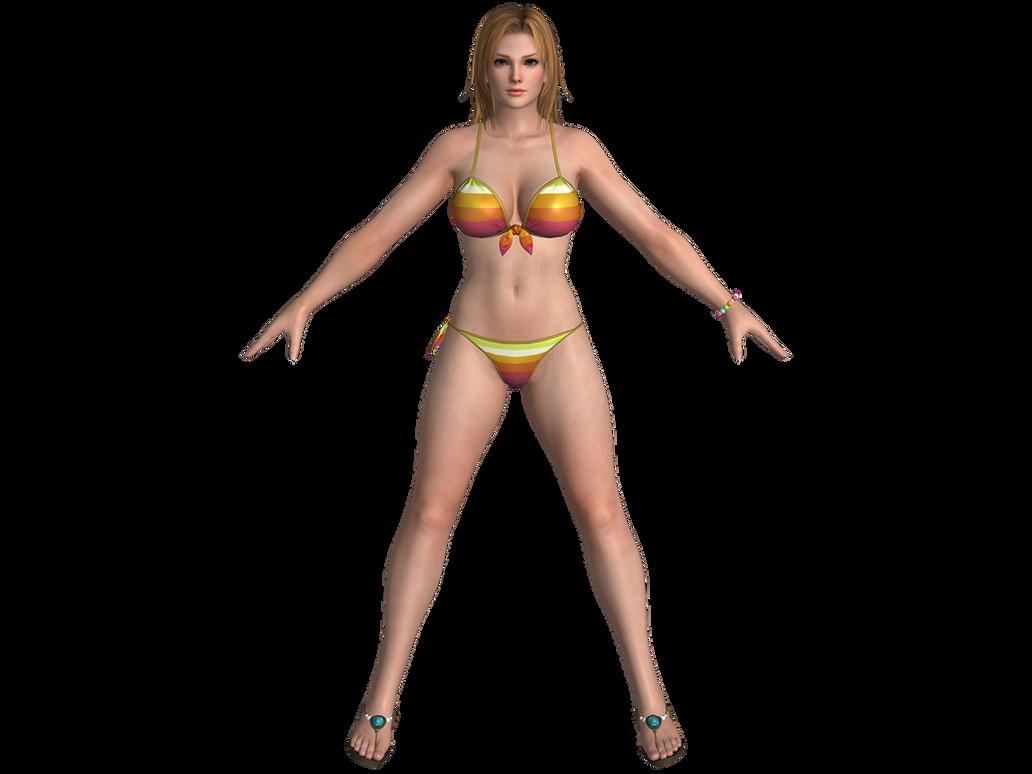 DOA5 LR Tina Gust mashup swimwear by zareef