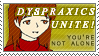 Dyspraxics Unite Stamp by YamanakaAngel
