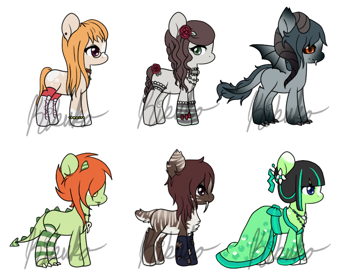 Pony sheet 2 - OPEN [1 STILL OPEN] by Kikuko-Keika