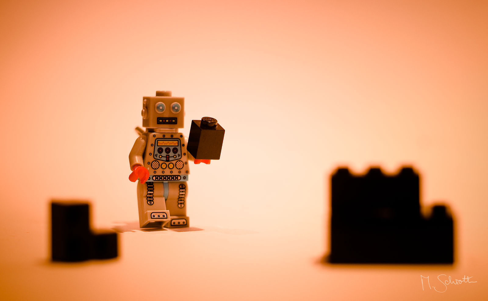 Robot on Mars.
