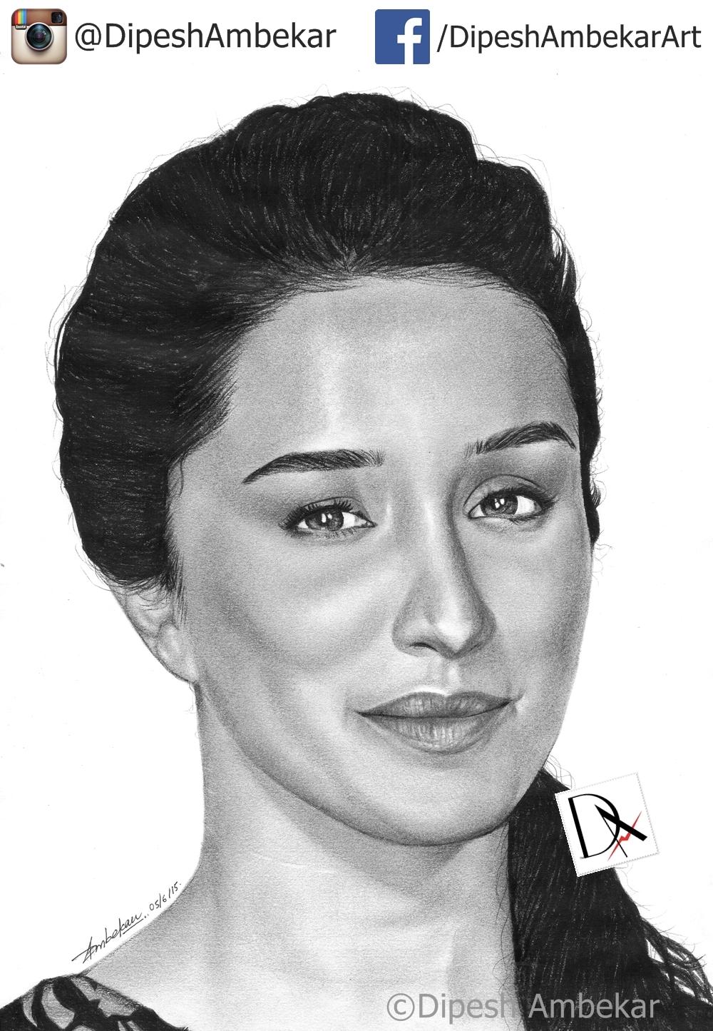 Shraddha Kapoor Sketch By DipeshArt On DeviantArt
