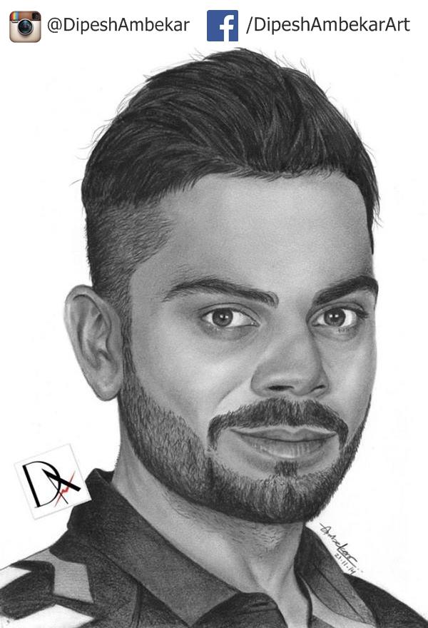 virat kohli sketch cricket india kohli love virat viratkohli art ...