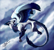 Griffin in Flight 2 by MillyD13