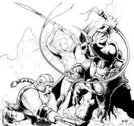 Epic Fight inks by inzunzagorenoir