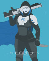Destiny- The Huntress- Line Art and Color WIP by TheChrisPMan