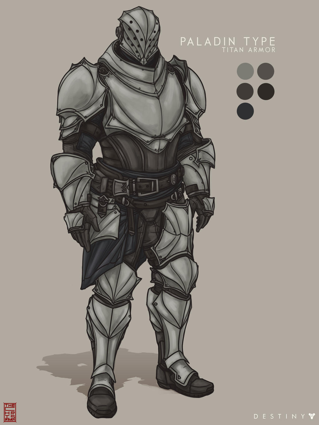 Destiny Concept Art 4 Paladin Type Titan Armor By TheChrisPMan On
