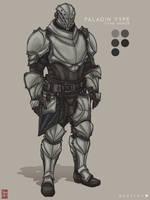 Destiny Concept Art 4- Paladin Type Titan Armor by TheChrisPMan