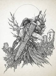 Bloodborne- Slayer of Nightmares [Lineart]