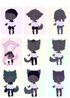 [OPEN]Adoptables Batch Points or Paypal [Aution] by Ryuseigkm-Adopts