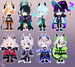 AUCTION ADOPTABLE OPEN [ PAYPAL] + raffle winners by Ryuseigkm-Adopts