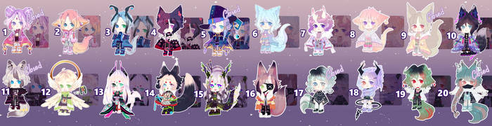 ADOPTABLES IN DISCOUNT OPEN [ PAYPAL] by Ryuseigkm-Adopts