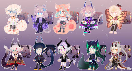 SET PRICE ADOPTABLE OPEN [ PAYPAL] by Ryuseigkm-Adopts