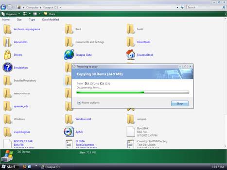 Longhorn Windows Vista Screen