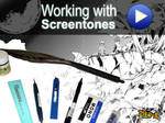 how to work with screentones