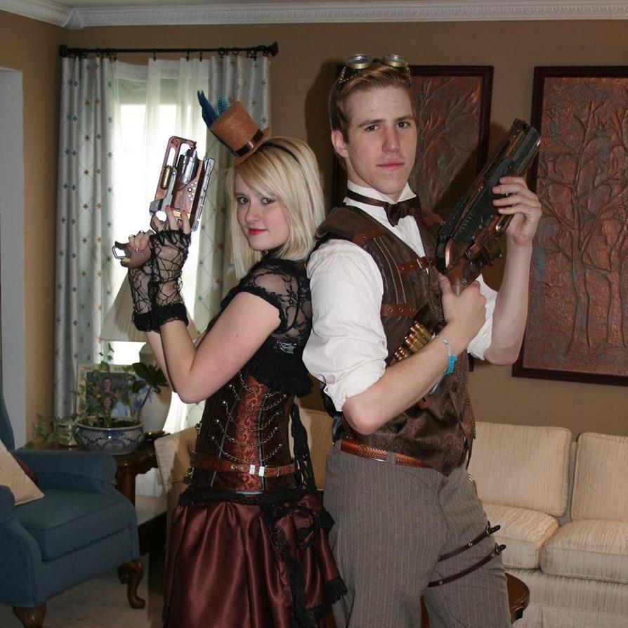 Steampunk Couple by GirlOfTheRoses