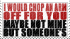 Chop An Arm Off by TheParanoIIdPsycho