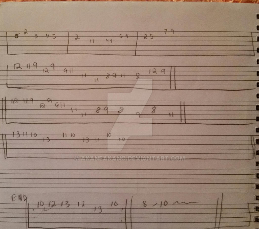 Undertale- Bergentruckung + Asgore Guitar Tabs pg2 by AkaneAkano on DeviantArt