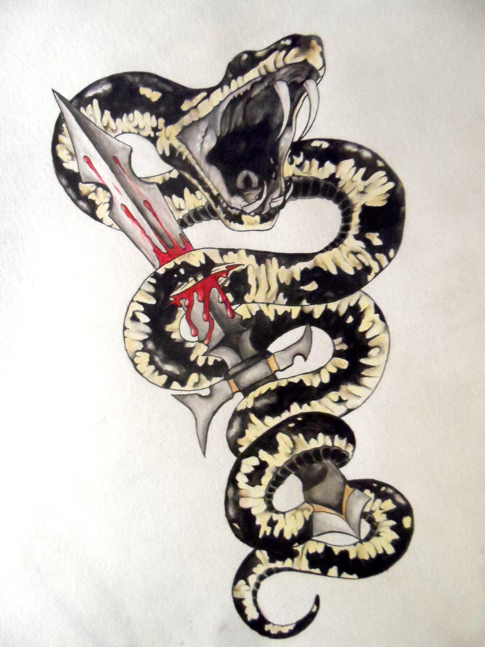 Python Tattoo Designs