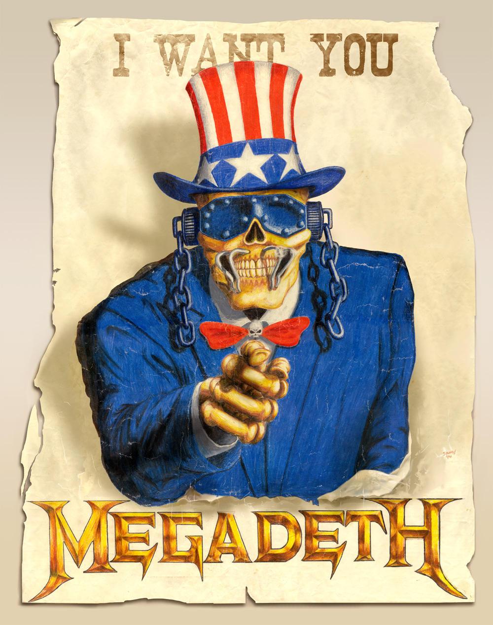 Megadeth want you by Jonzy on DeviantArt: jonzy.deviantart.com/art/Megadeth-want-you-17580496