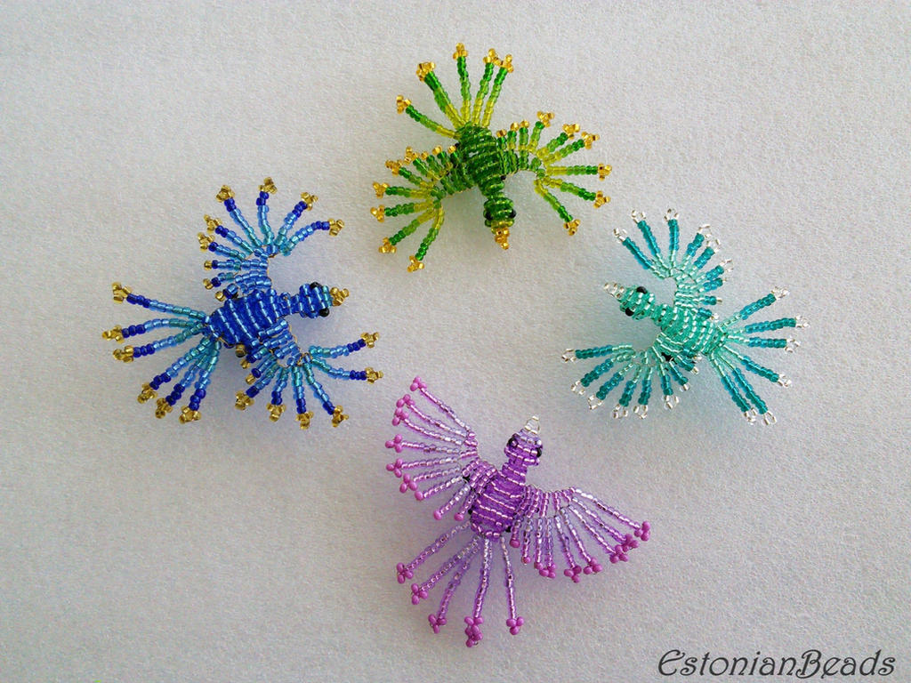 Beaded birds by EstonianBeads