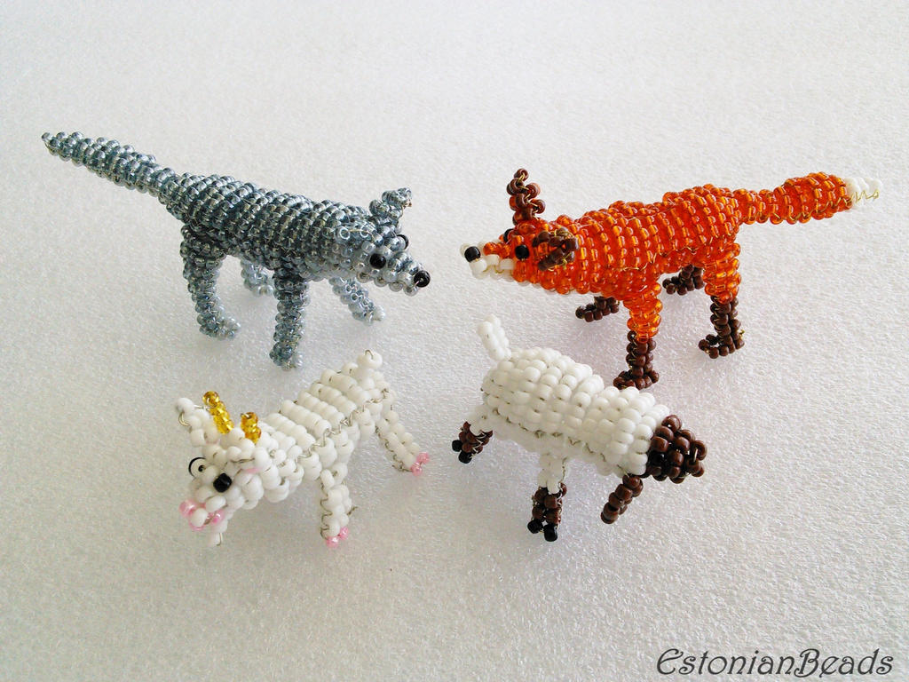 Beaded animals by EstonianBeads