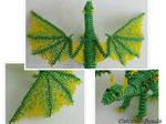 Beaded green dragon in detail by EstonianBeads