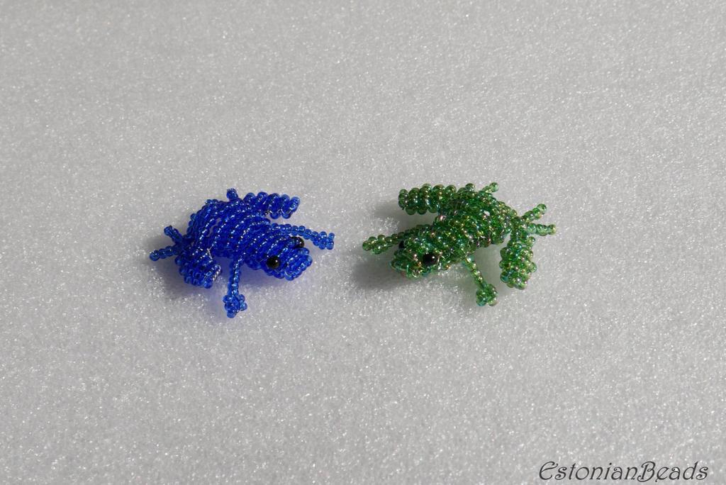 Beaded frogs by EstonianBeads