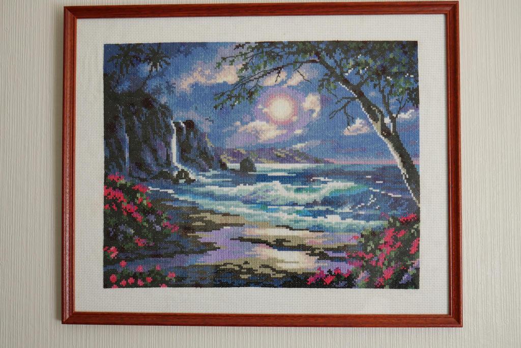 Cross-stitch sea framed by EstonianBeads