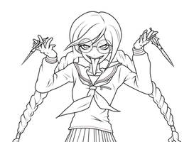 Genocider Syo lineart by LittleShoes