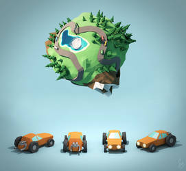 Concept Art for Racing Game