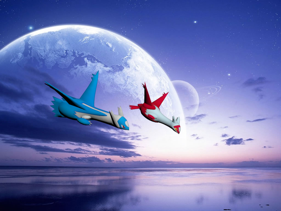 Latias and latios by T...