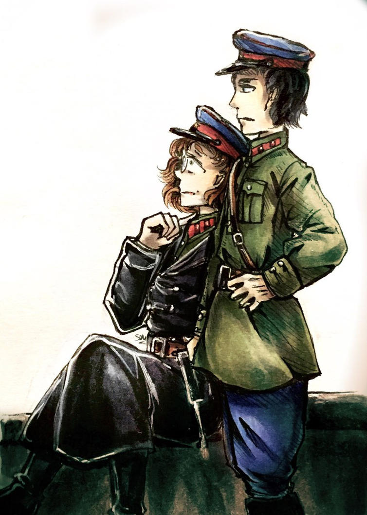 Heifetz and Chernykh by Senhariko