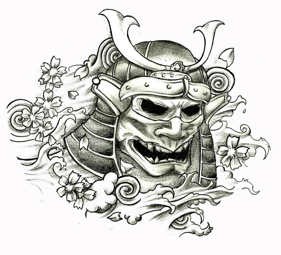 Samurai Skull by stefano13