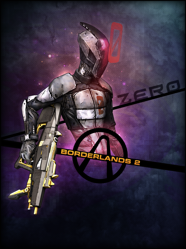 Borderlands 2 - ZER0 Poster by CREEPnCRAWL