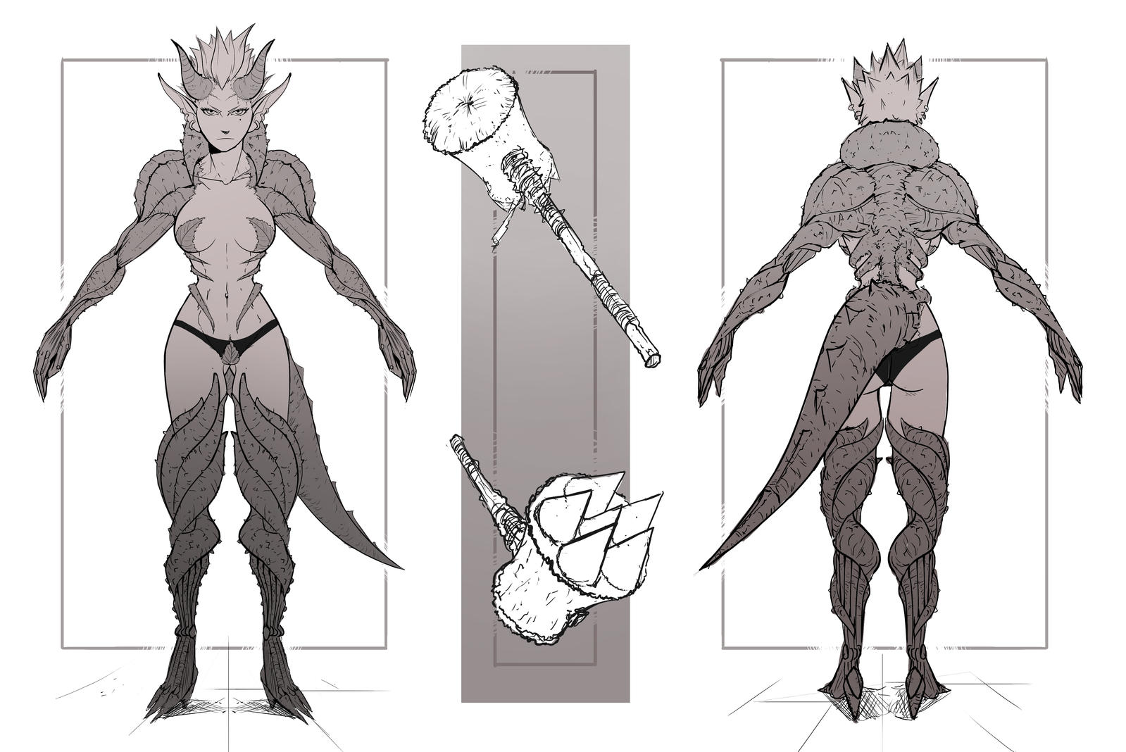 Character Concept Design Process : Plantonoid character concept art by sarlah on deviantart