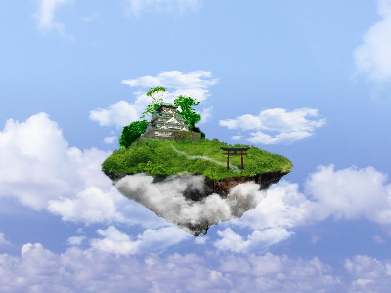 Floating Castle by bok...