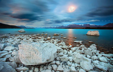 Tekapo Moonlight by CainPascoe