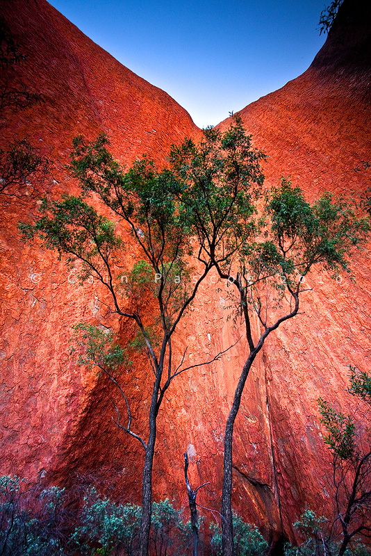 The Wall Of Uluru by CainPascoe