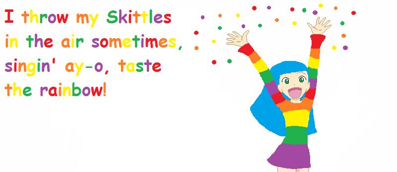 skittles digital wallpaper