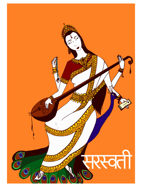Sarasvati Devi by Purple--Lady