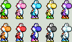 Yoshi Sprites by Zaku-Man