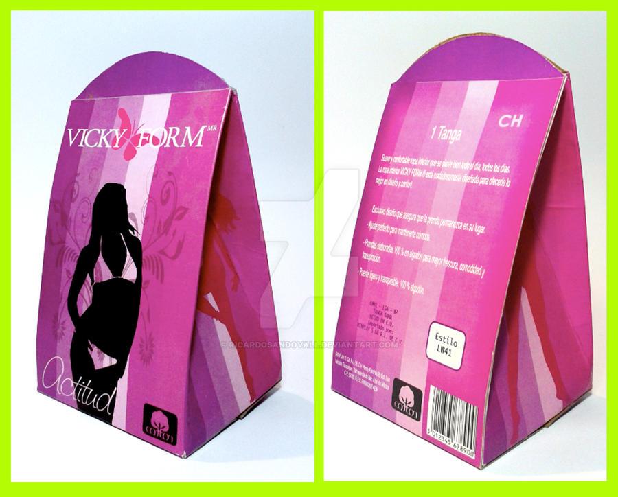 Empaque vickyform by ricardosandovall on deviantart for Packaging ropa interior