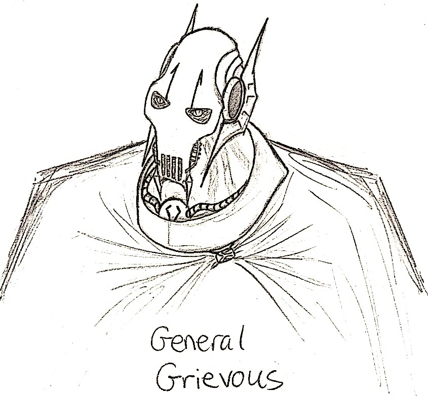 General grievous sketch by demonic chaos on deviantart for General grievous coloring page